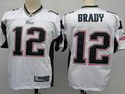 NFL New England Patriots 12 Tom Brady White Jerseys